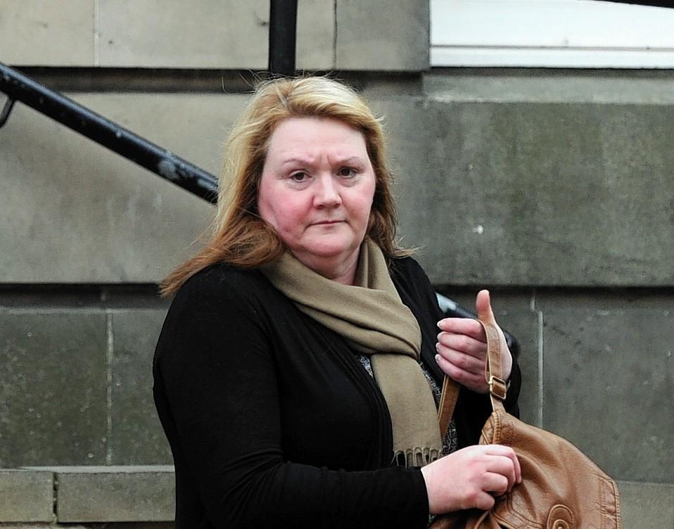 Jennifer Brown leaving Elgin Sheriff Court