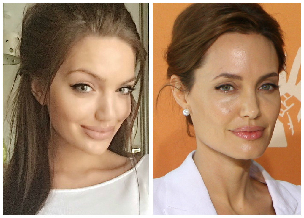 Which is the real Angelina?Chelsea Marr (left) has an uncanny resemblance to Hollywood star Angelina Jolie (right)