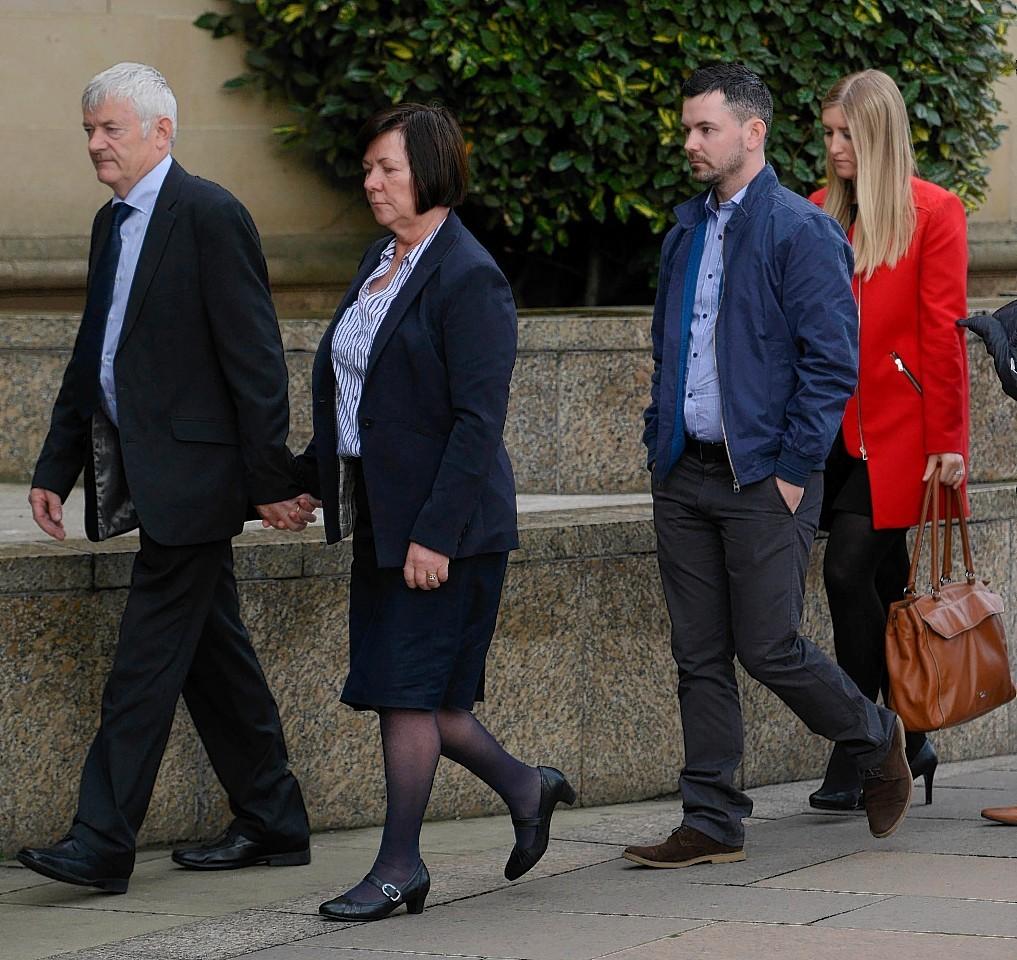 Karen Buckley's parents arrive in court