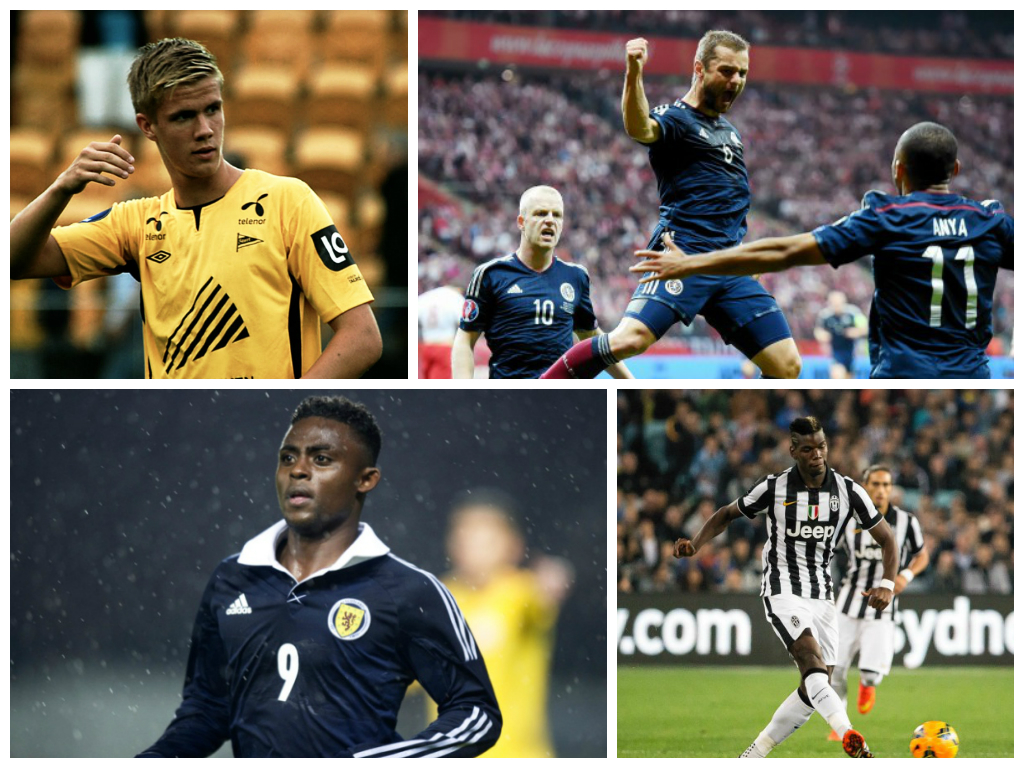 Kristoffer Ajer, Shaun Maloney, Islam Feruz and Paul Pogba are all in the headlines today