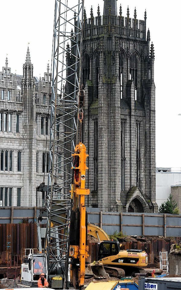 The Marischal Square development site. Picture by Kami Thomson