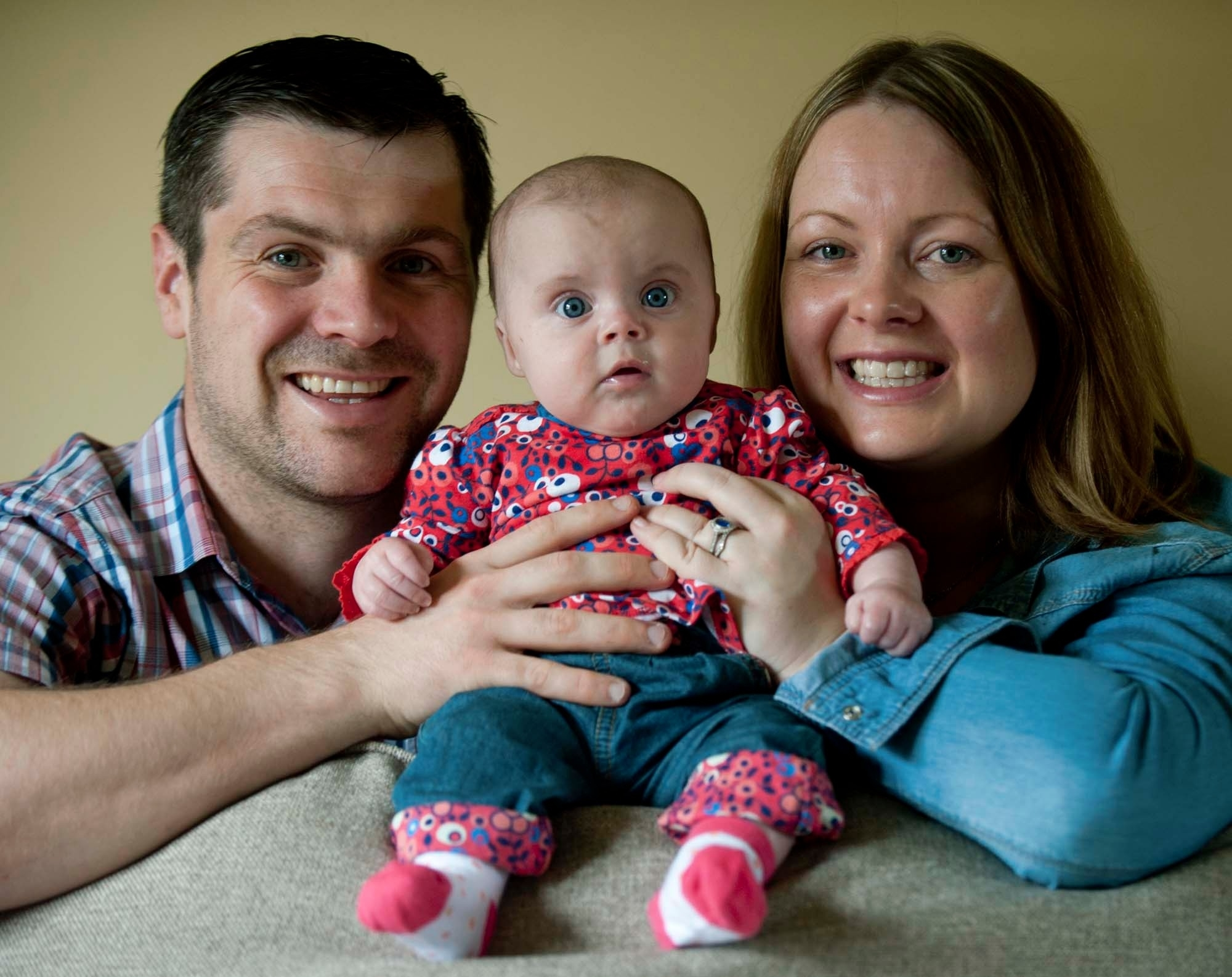 Skye, tiny but healthy with her proud relived parents.