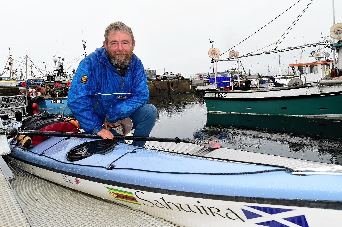 Nick Ray and his sea kayak