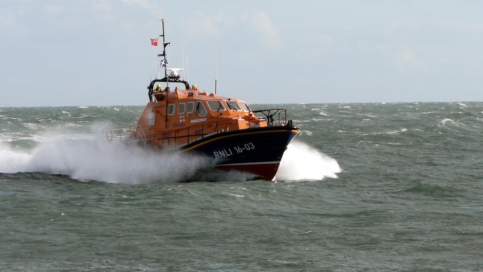 A Stornoway lifeboat in action.