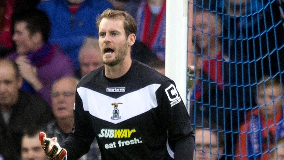 Caley Thistle goalkeeper Owain Fon Williams