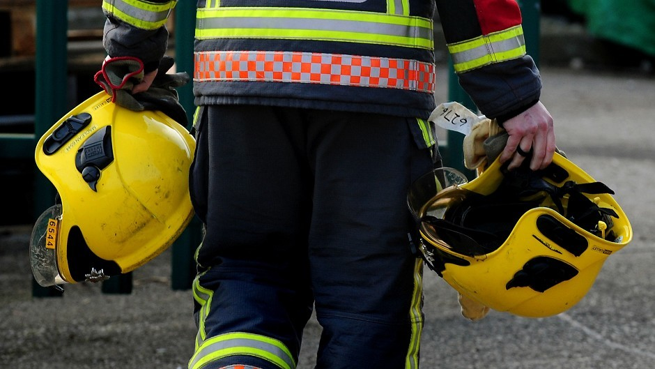 Firefighters are at a house fire in Nairn
