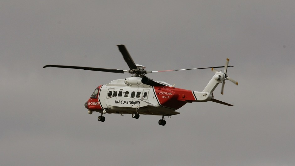 A rescue helicopter was called out to the incident
