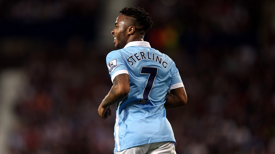 Raheem Sterling made his Premier League debut for Manchester City in their convincing win at The Hawthorns