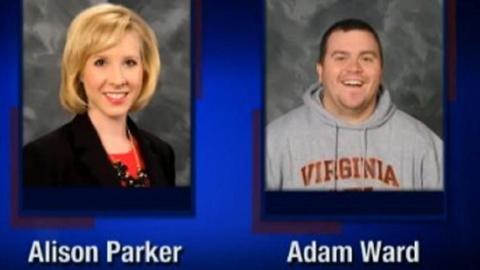 Screenshot from WDBJ-TV7, in Roanoke, of reporter Alison Parker and photographer Adam Ward (WDBJ-TV7/AP)