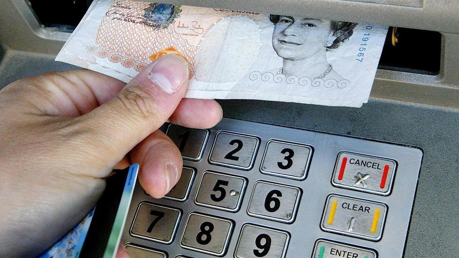 Three cash machines in the Highlands were targeted by card-skimmers
