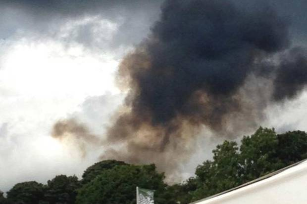 A plane has crashed at the CarFest motoring event