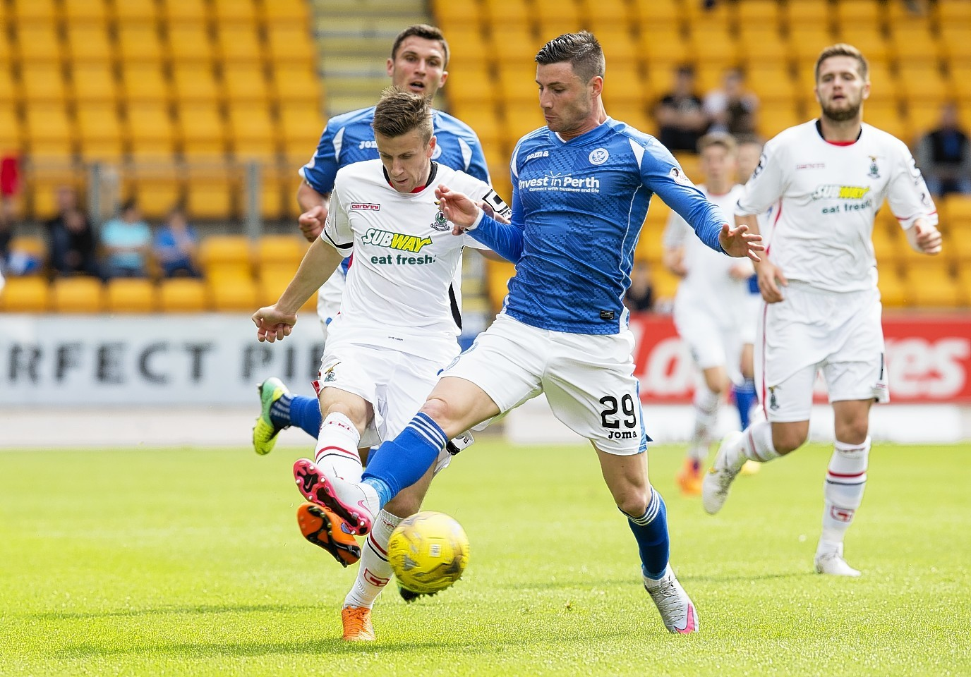 LIam Polworth, left, is out of contract with Caley Thistle at the end of the season.