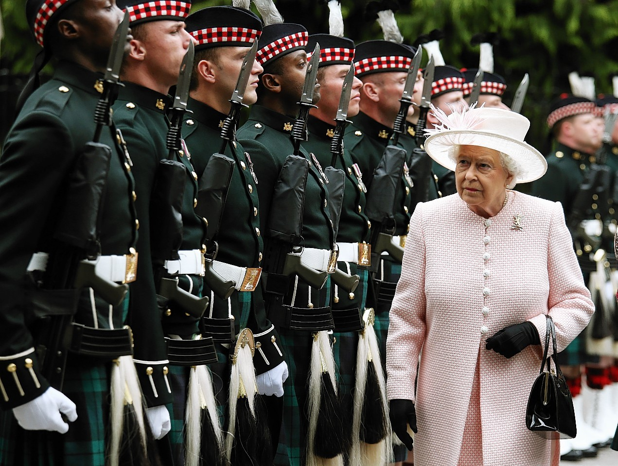Queen summer residence at Balmoral 2015