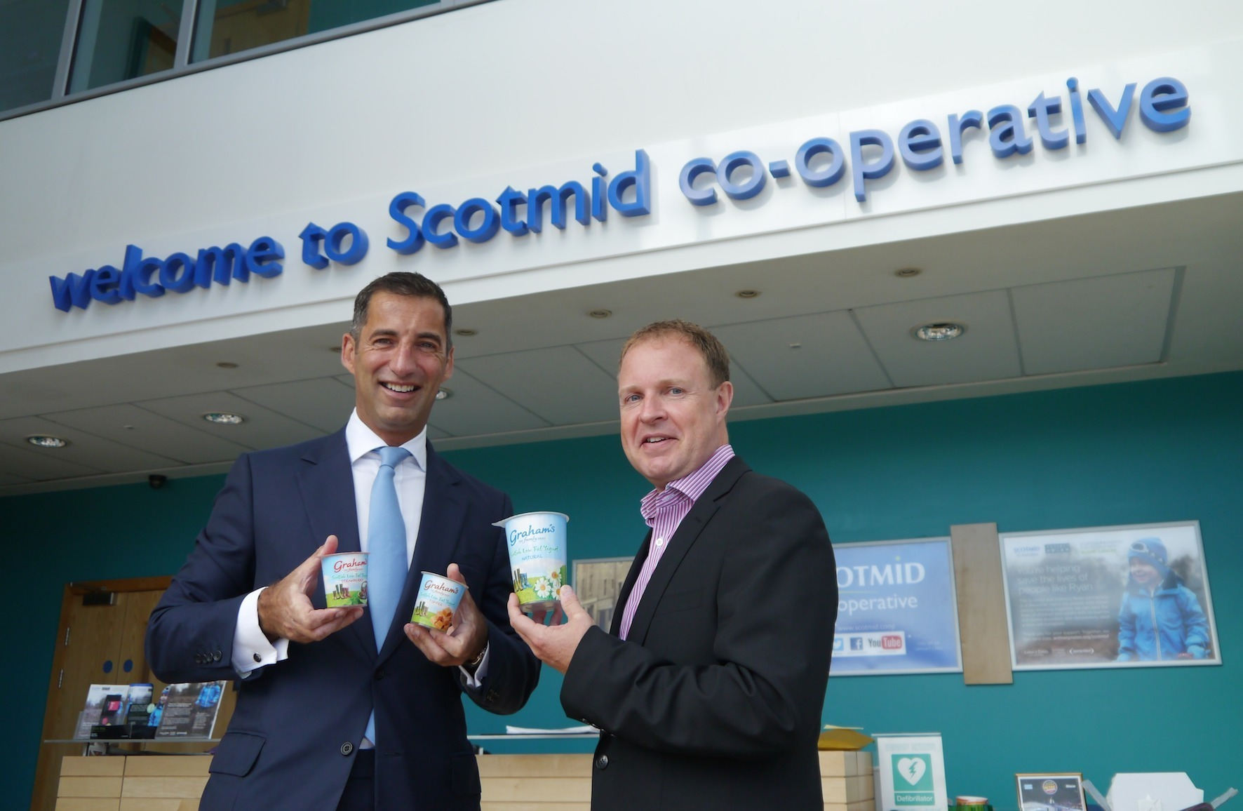 Robert Graham with Colin McLean from Scotmid