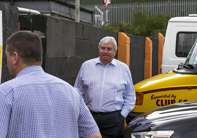 Richard Forsyth enters the club's midweek emergency meeting