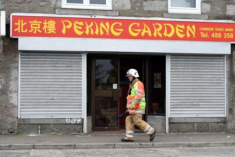 Scene at the Peking Garden yesterday