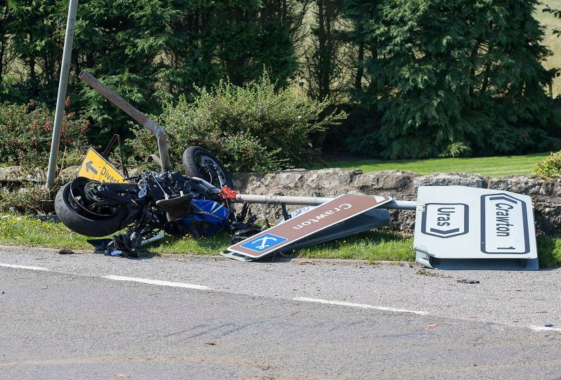 Scene of the accident on A92