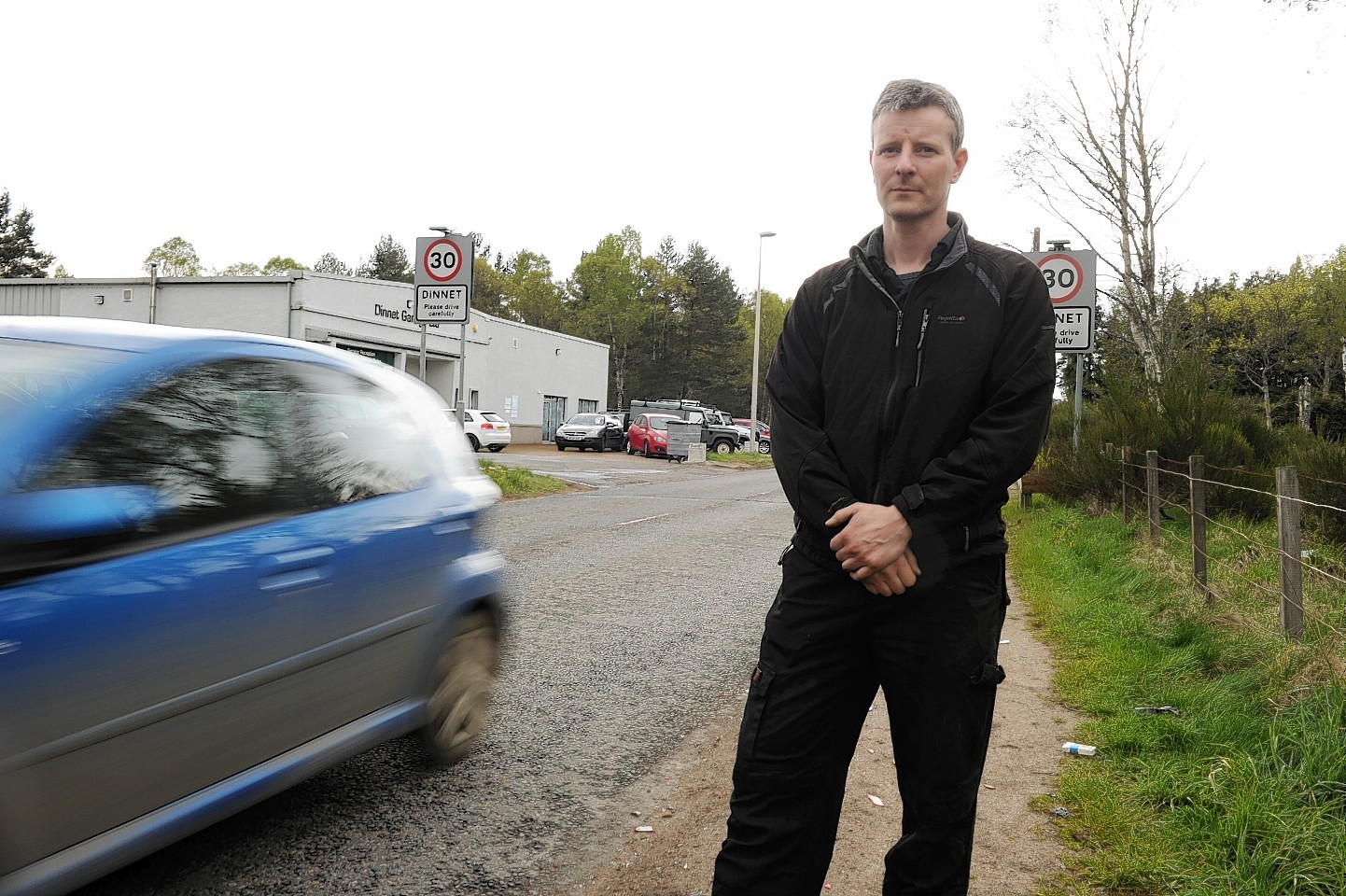 Scott McHardy, of Dinnet Garage, has been campaigning for the extension of the speed limit