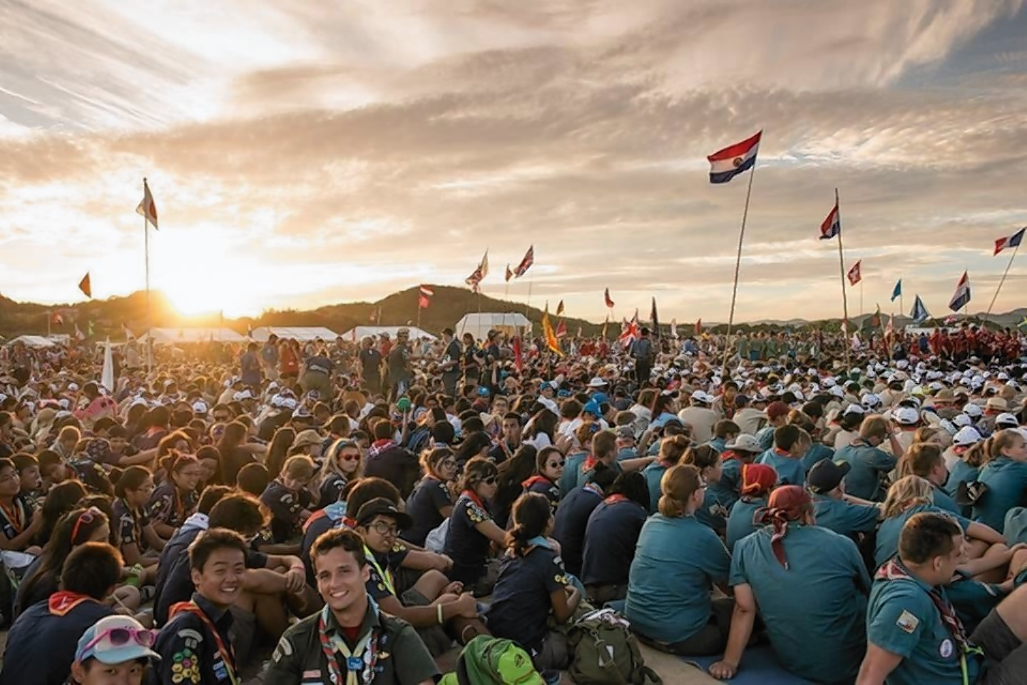 The World Scouts Jamboree in Japan.