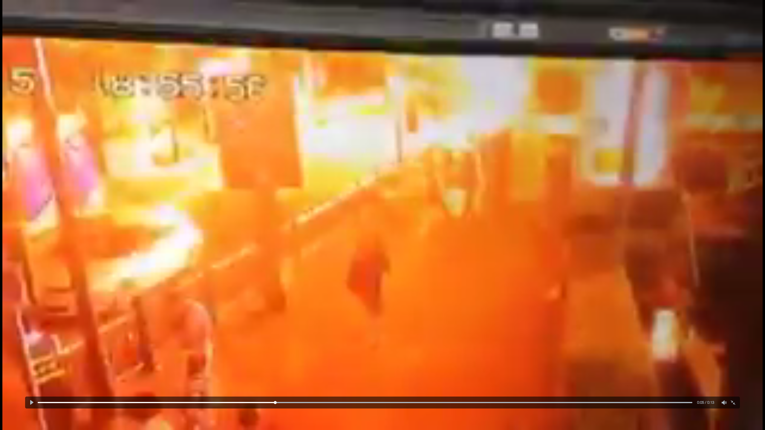VIDEO: CCTV captures moment bomb exploded in Bangkok city centre