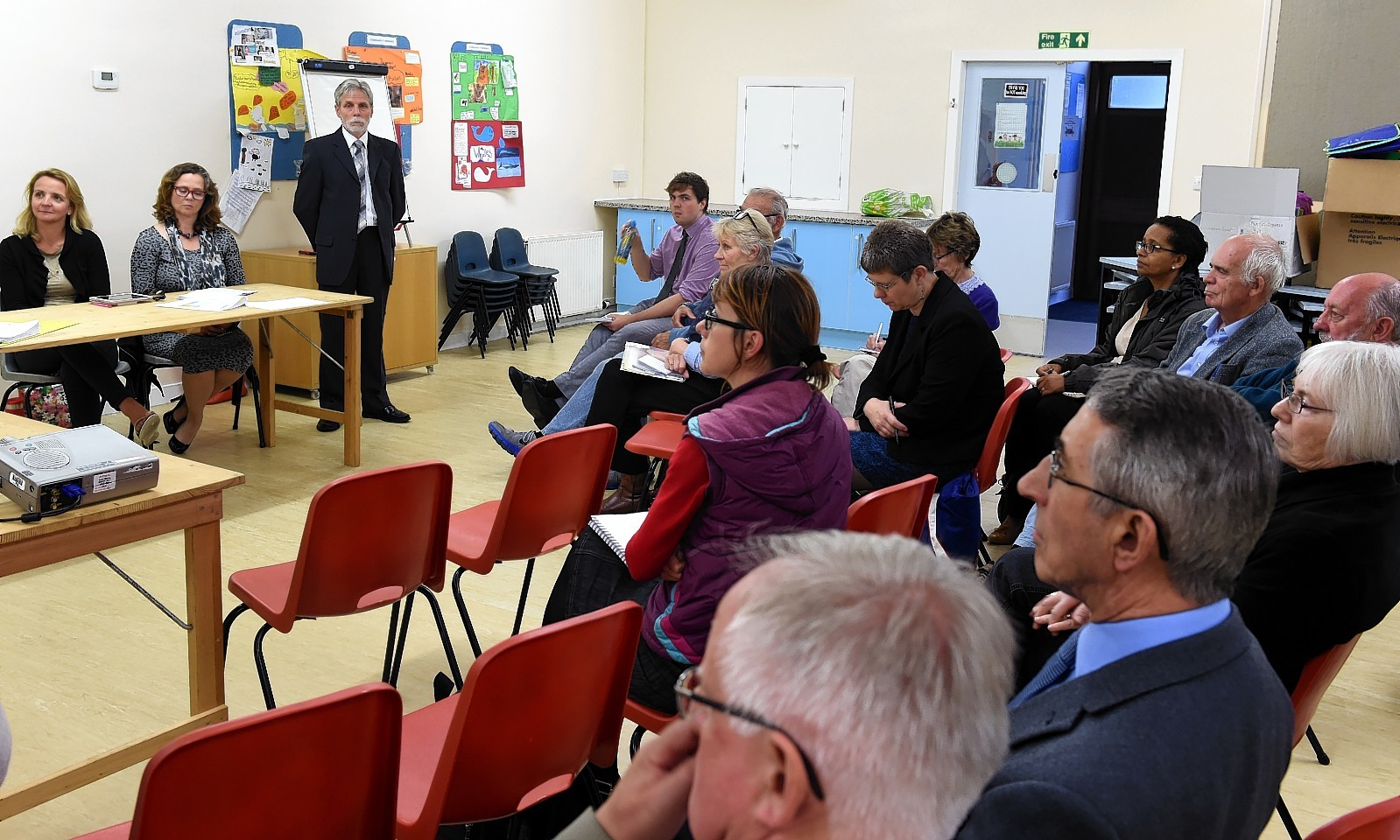 A public meeting on the use of the former court building in Stonehaven. Picture: Jim Irvine.