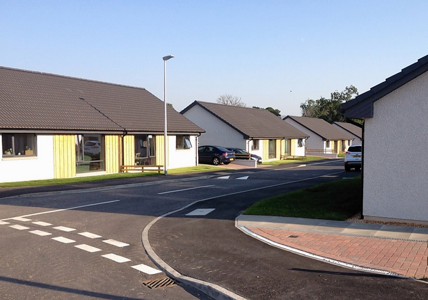 The special bungalows in Teinland Place