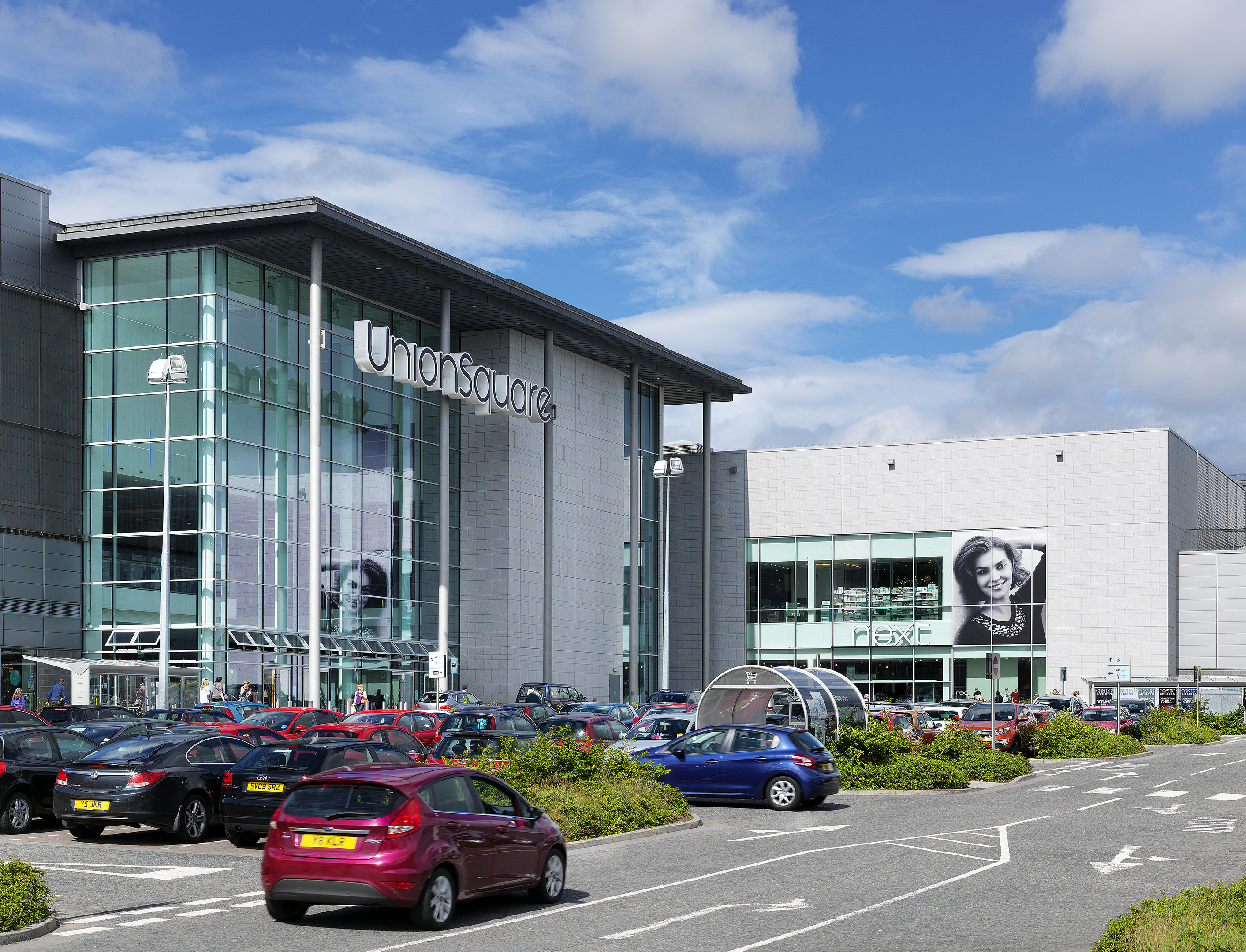 Union Square shopping centre in Aberdeen