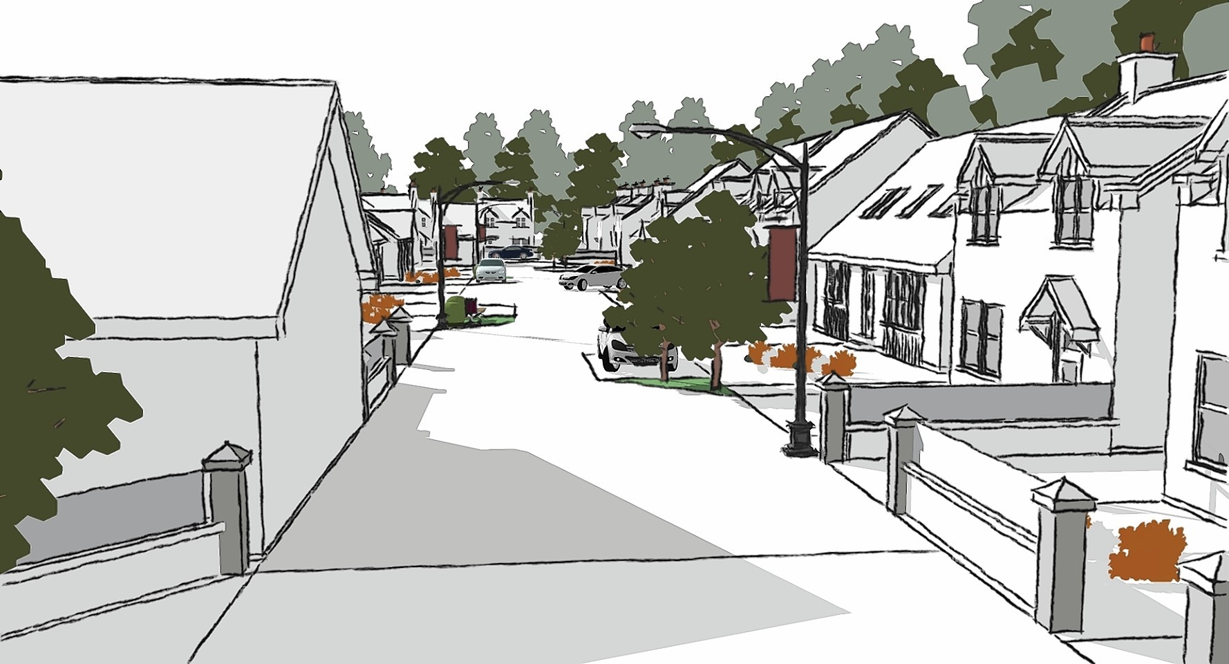 Artist's impression of the Clerkhill development, Peterhead