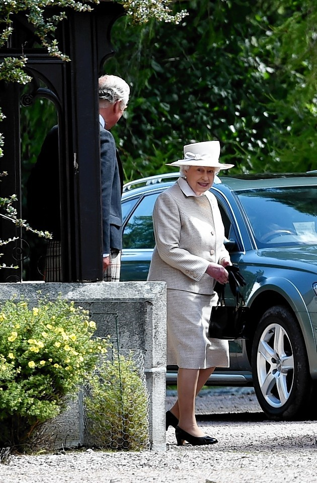 The Queen leaves the church. Picture by Colin Rennie