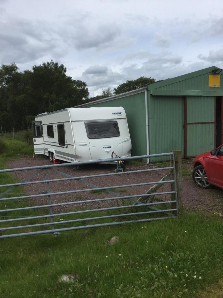 The caravan which was stolen from land near Shieldaig