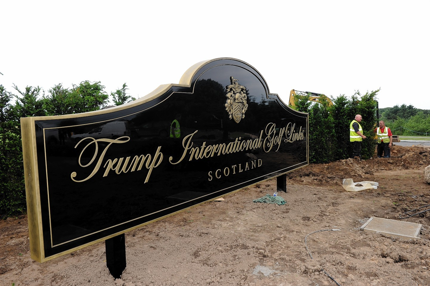 The crash happened close to the entrance to Trump International