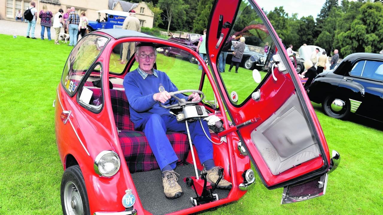 1958 Heinkel Bubble Car and John Ducker, Onich.