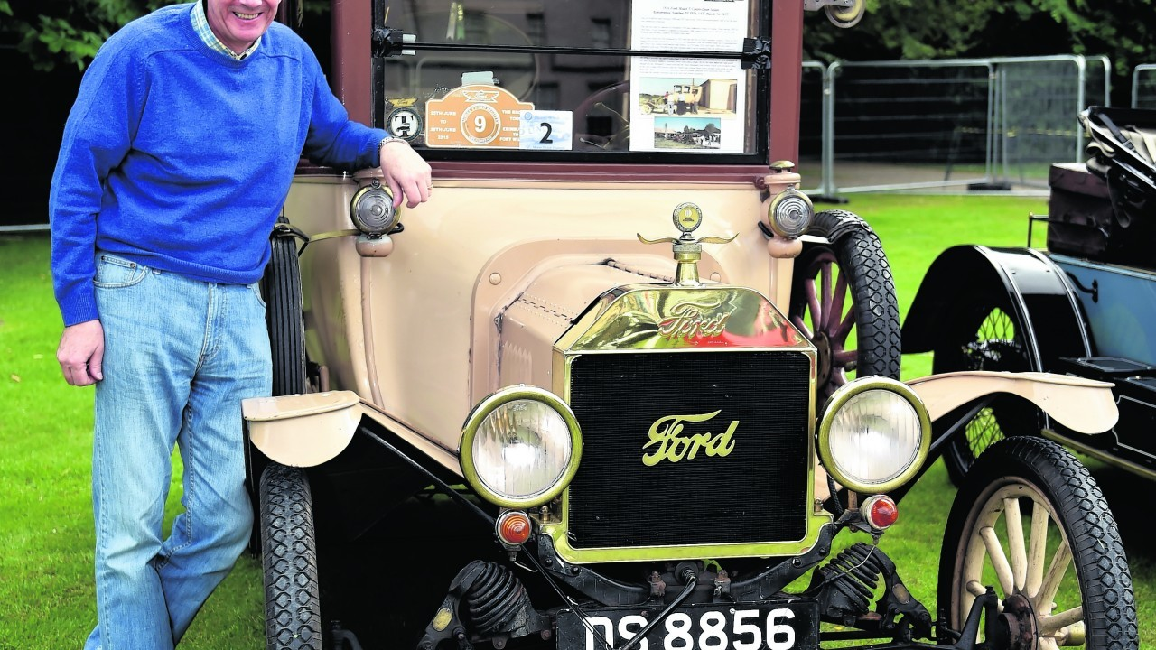 James Gray with his 1916 Ford Model T centre-door.