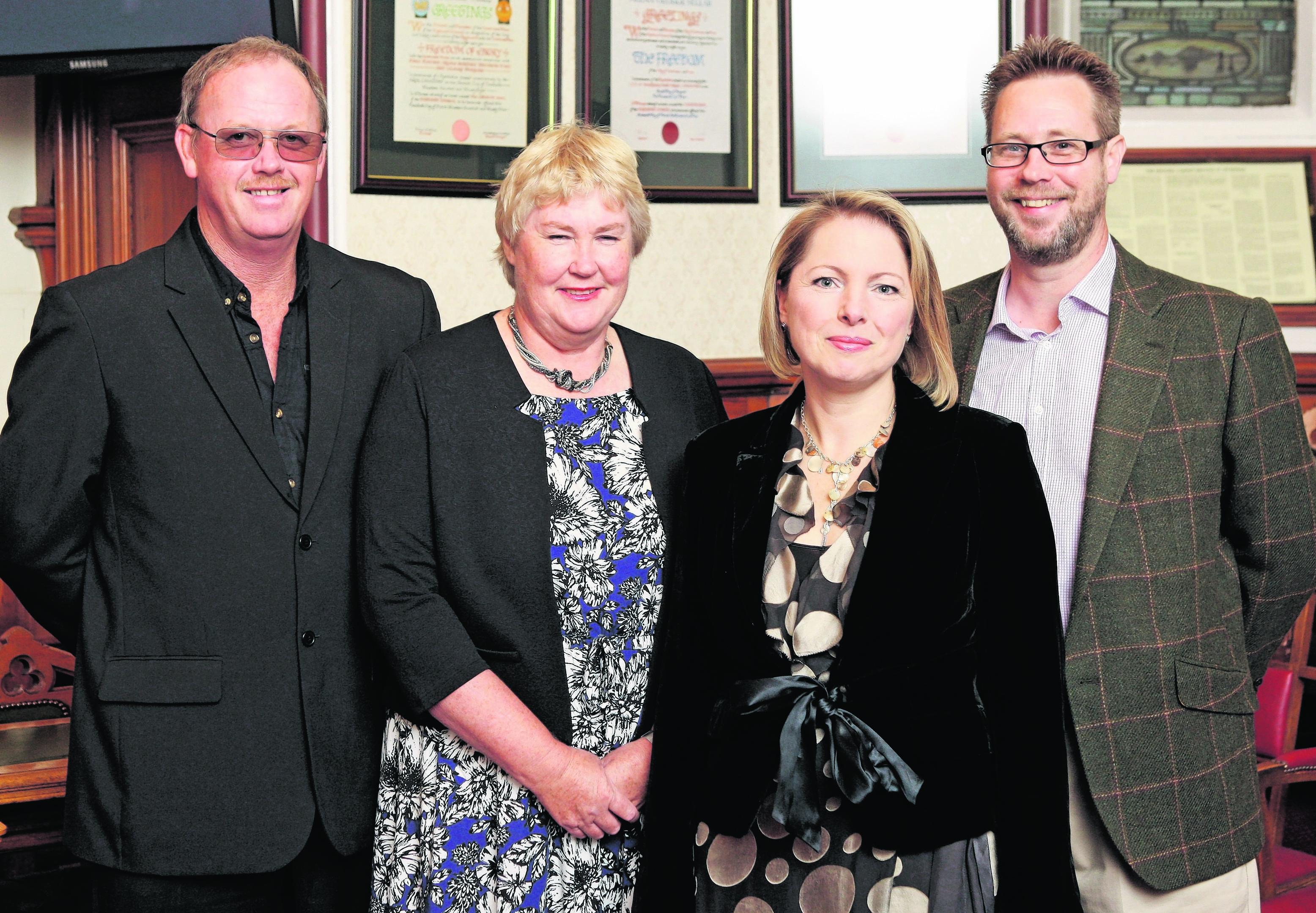 Magnus and Kim Neill with Kate and Stewart Lackie