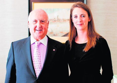 The Capital founder, Scotsman David Levin, with his daughter Kate, who is general manager