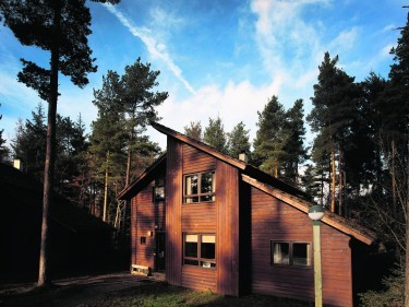 External view of the 4 bed executive lodges at Whinfell