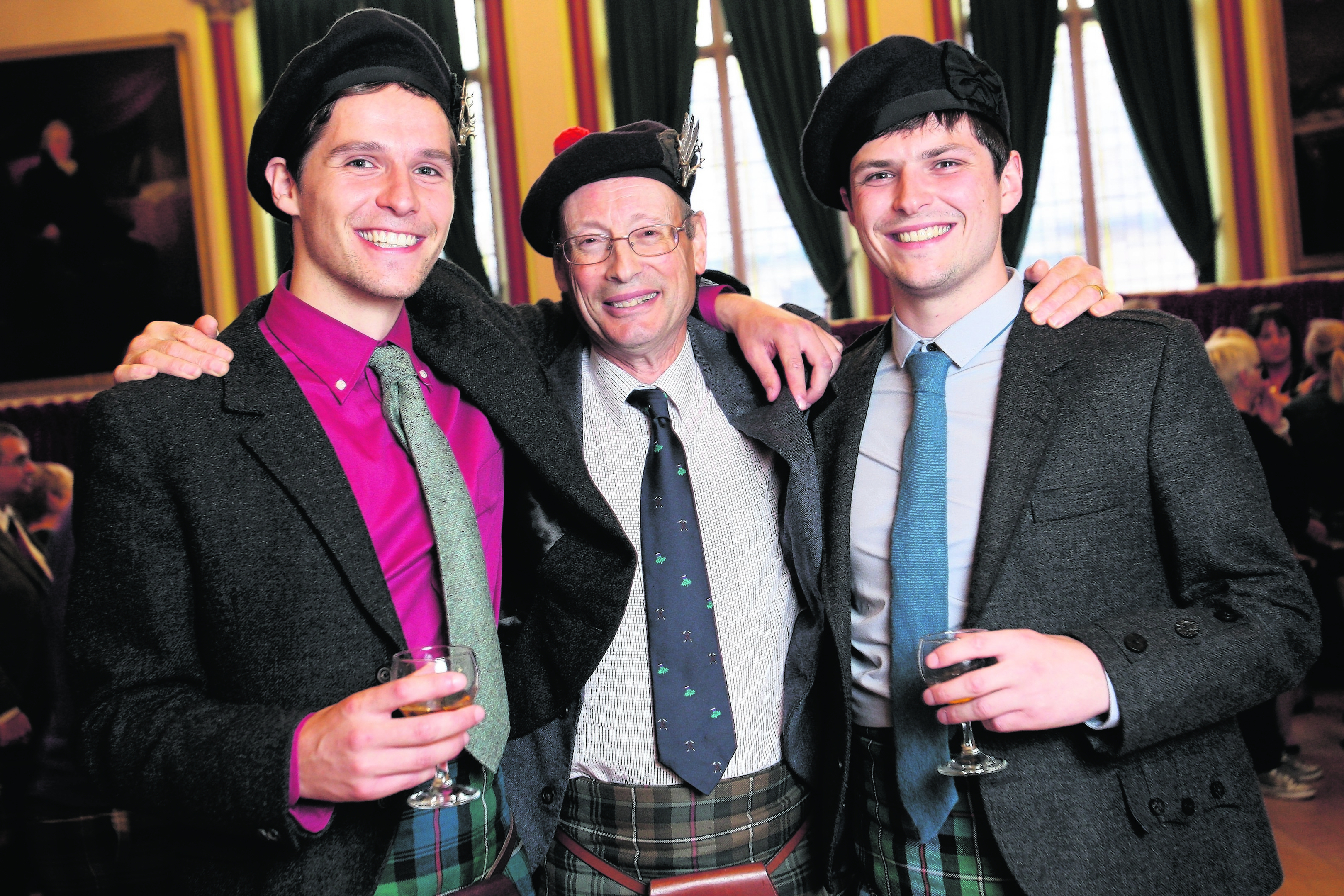 John Mackenzie, Earl of Cromartie, with his sons Colin and Alasdair
