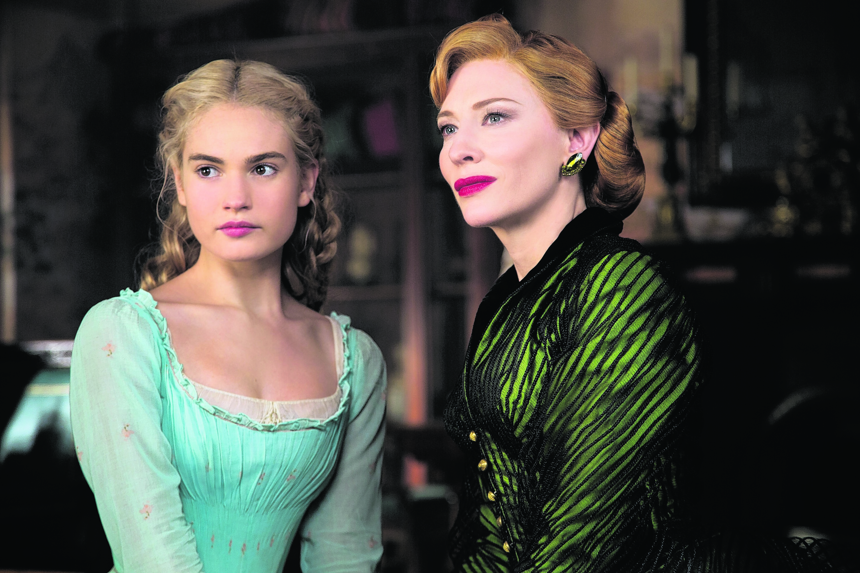 Lily James and Cate Blanchett starring in Cinderella