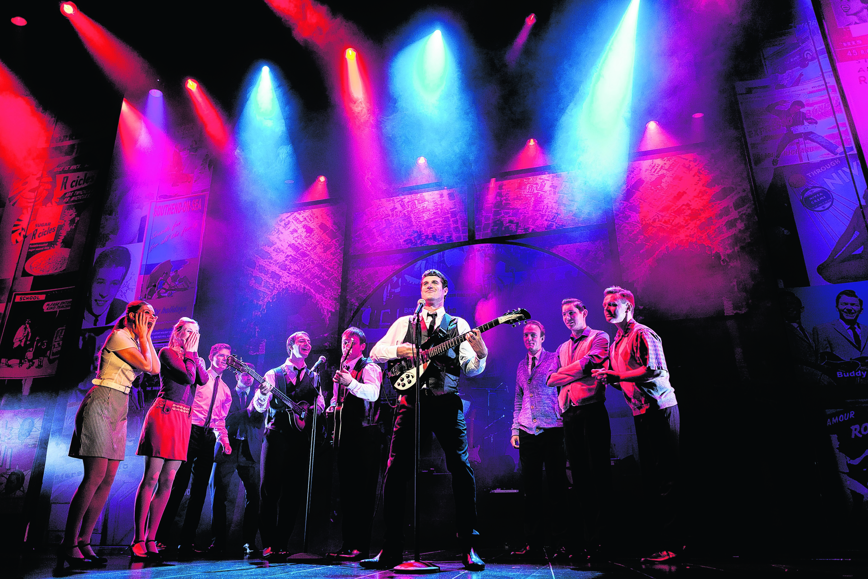 Alan Howell, centre, performing in Dreamboats and Miniskirts