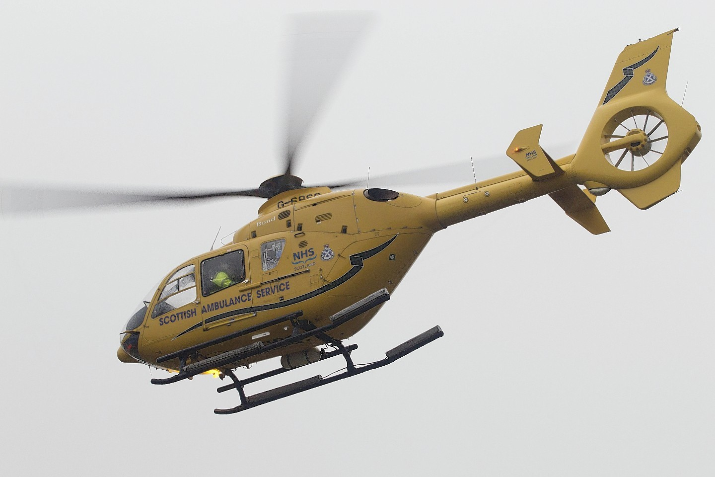 An air ambulance helicopter