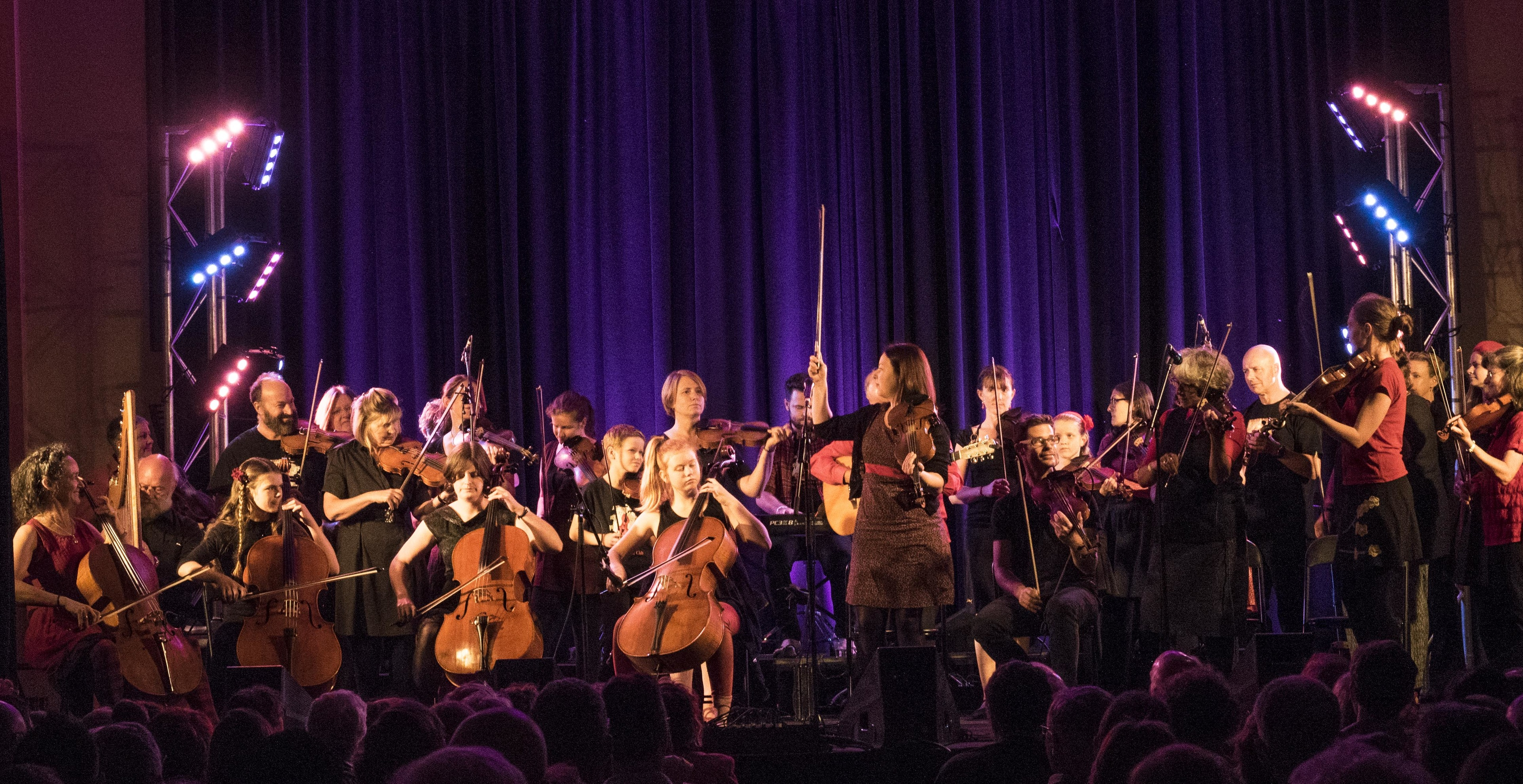 The Melbourne fiddlers performing