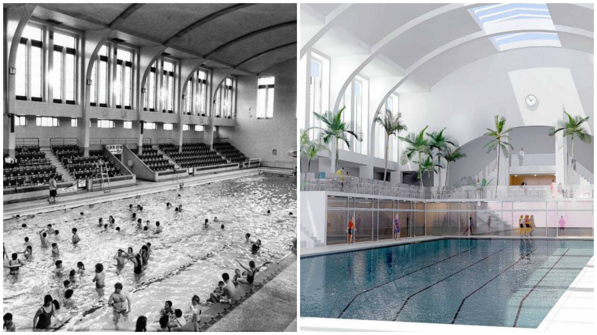 A group of volunteers have a series of plans to restore Bon Accord Baths to their former glory