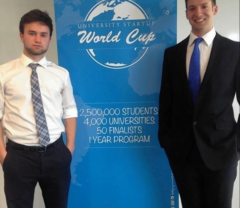 Aberdeen students Matthew Bracchi and James McIlroy