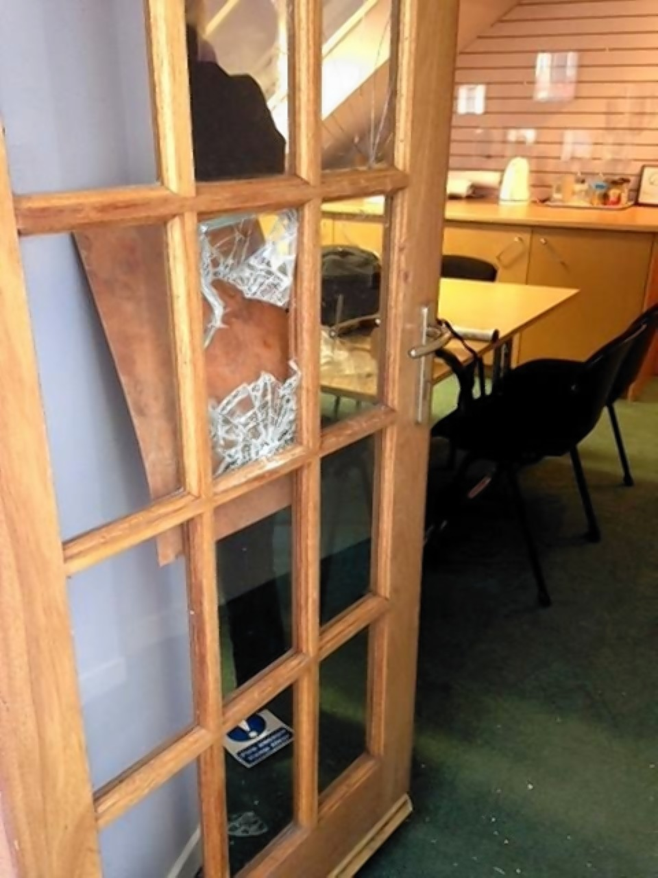 The break-in at Chest Heart and Stroke offices in Inverness