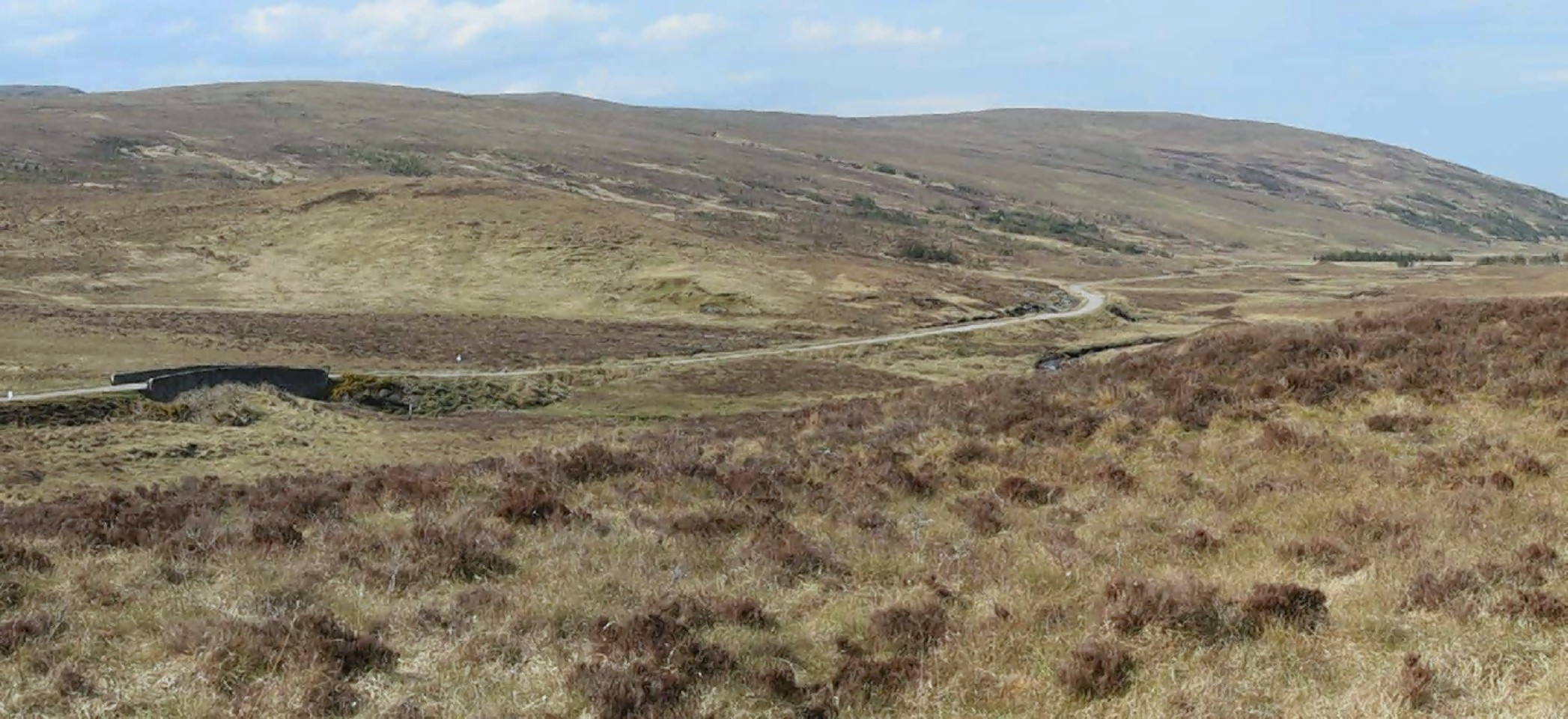 The site of the proposed Creag Riabhach windfarm at Altnaharra in Sutherland.