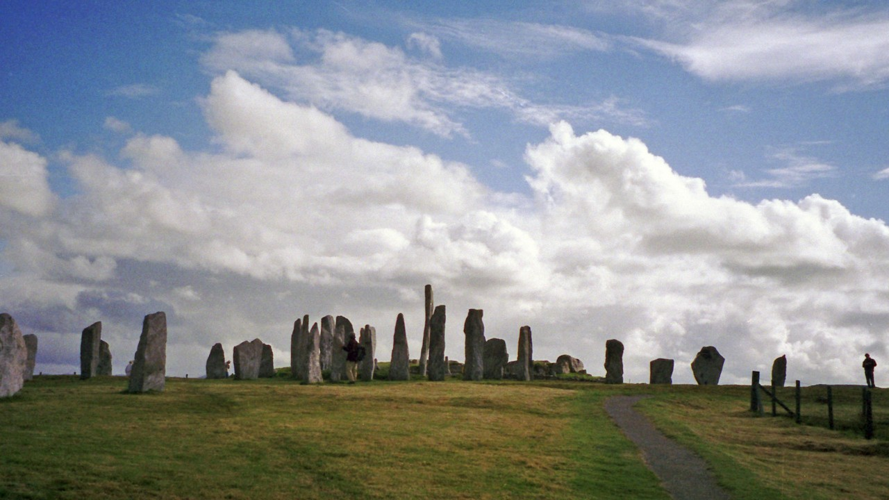 The prehistoric Callanish or Calanais standing stones in Lewis.
