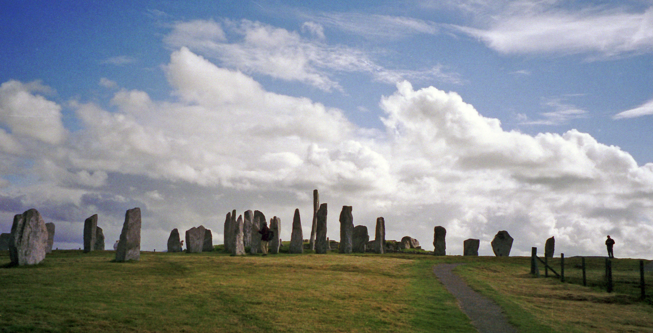 The prehistoric Callanish or Calanais standing stones in Lewis.