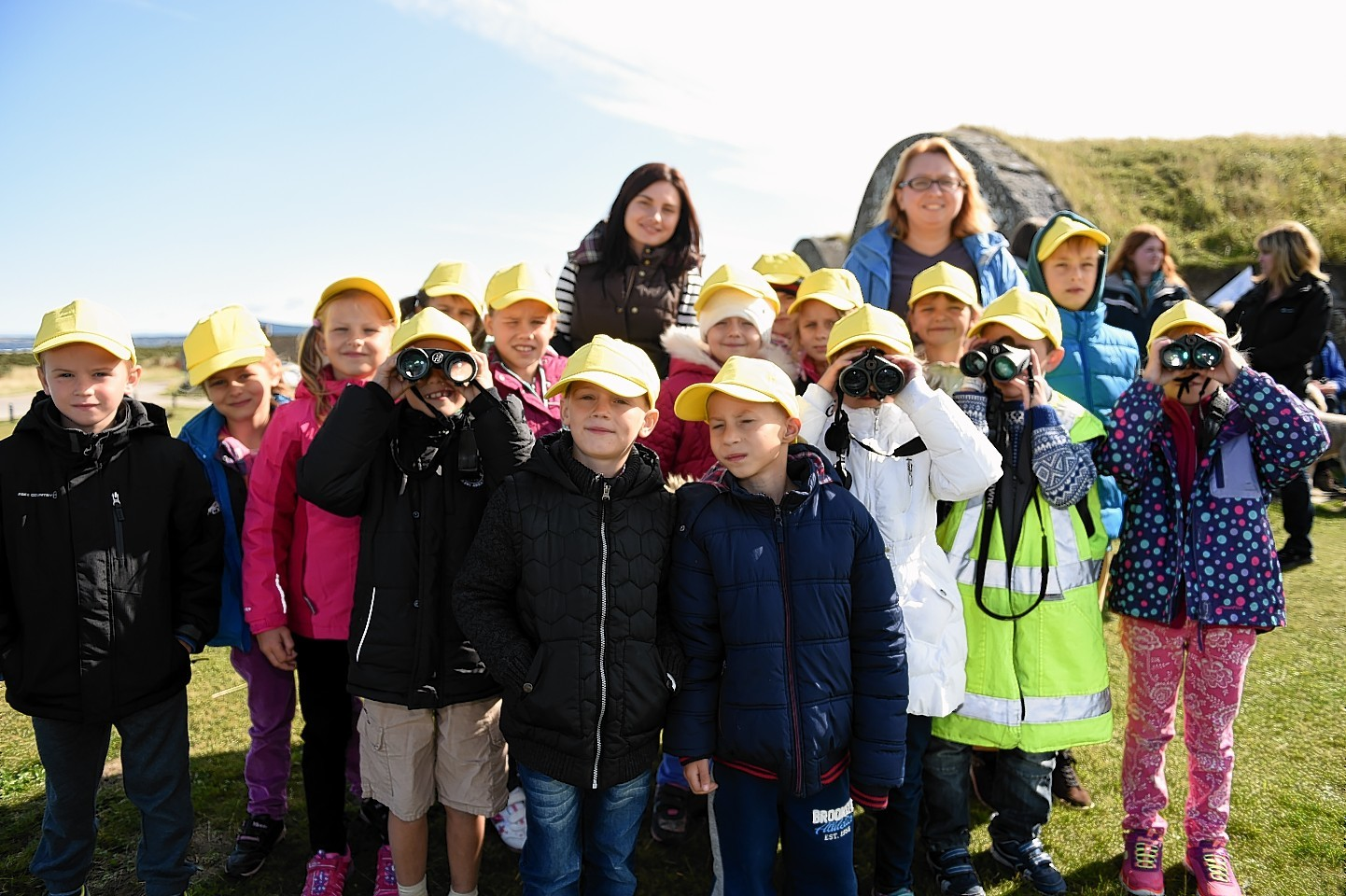 Children from Chernobyl visit Moray. Picture by Gordon Lennox
