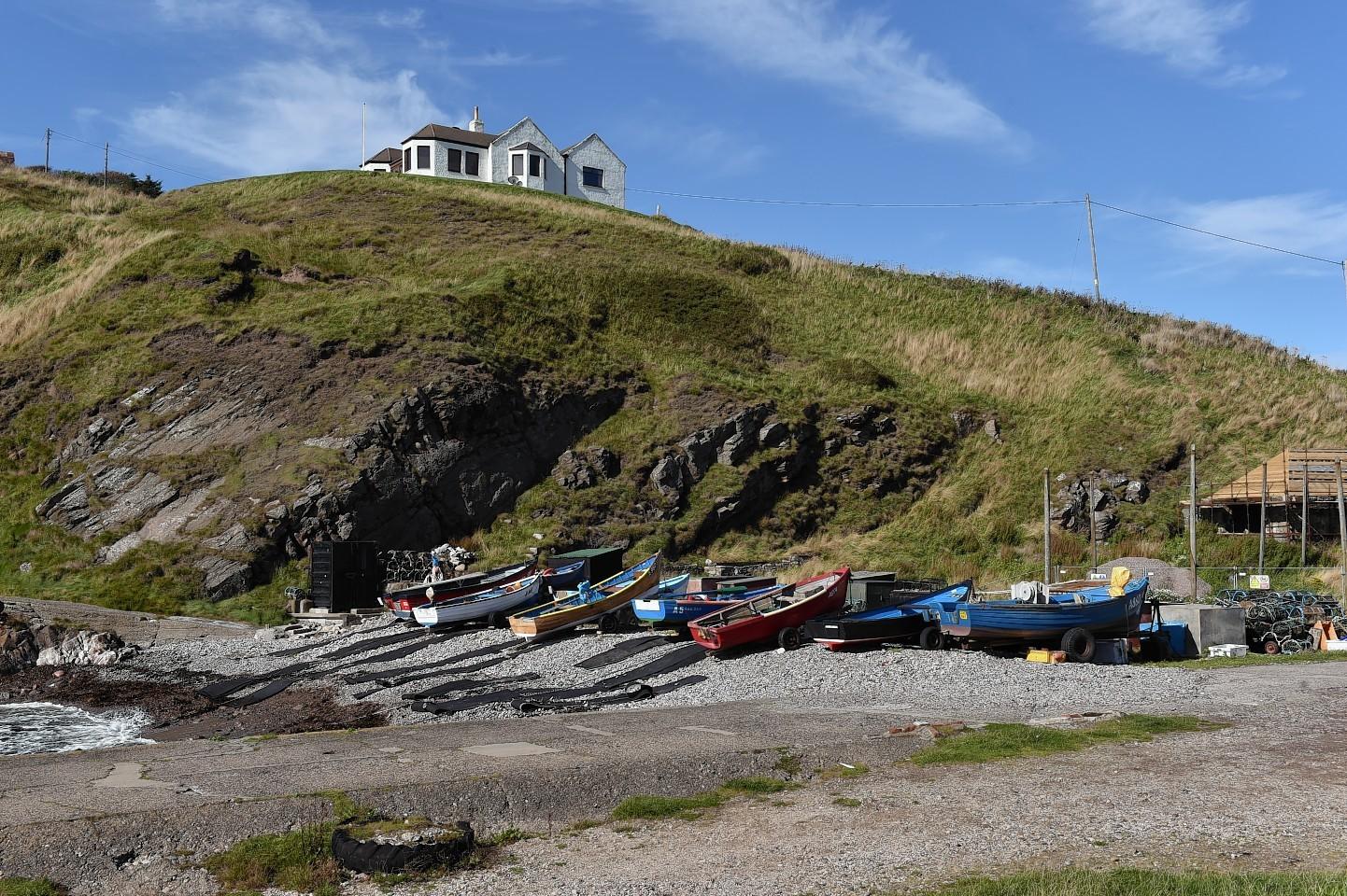 FIshing boats at Cove