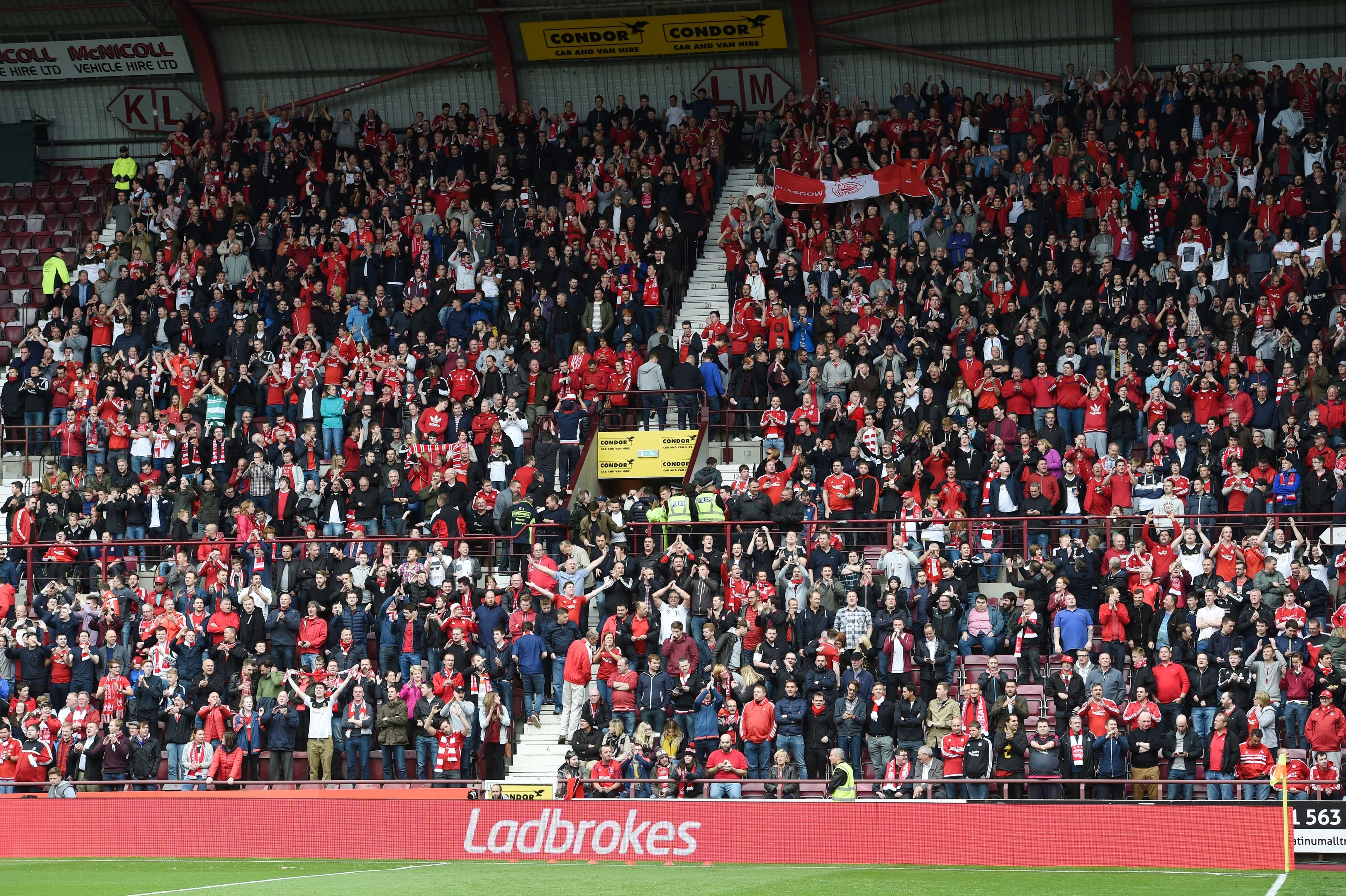 The Aberdeen fans travelled in great number and were sent home happy